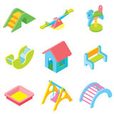 Kids playground isometric Royalty Free Stock Photography