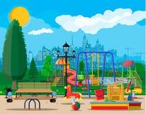 Free Kids Playground Kindergarten Panorama Stock Photography - 123873142