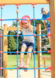 Kids on playground stock images