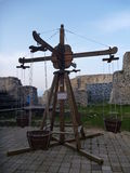 Kids playground at medieval castle in Celje. In Slovenia Stock Photography