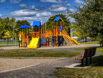Kids playground. On a nice sunny day with Royalty Free Stock Photography