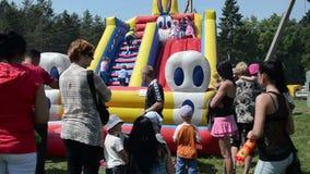 Kids playground stock video