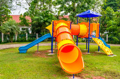 Kids playground. Placed at Kindergarten Royalty Free Stock Photo