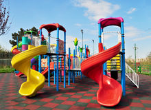 Kids playground. Placed in a park Stock Photography