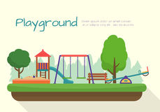 Kids playground set. Royalty Free Stock Image