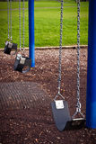 Kids playground swing detail Royalty Free Stock Photo