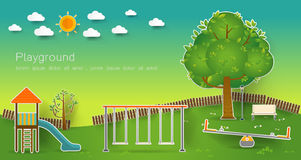 Kids playground. Vector illustration. Royalty Free Stock Photos