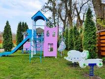 Kids playground in Vinnytsya, Ukraine royalty free stock image