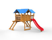 Kids playhouse - isolated on white. Background Royalty Free Stock Images