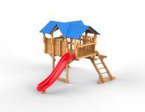 Kids playhouse - studio shot. Isolated on white background Royalty Free Stock Images