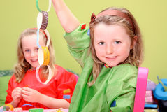 kids playing art and craft Stock Photo