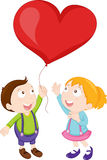 Kids playing with balloon Royalty Free Stock Images