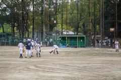 Kids playing baseball in Osaka, Japan Royalty Free Stock Photo