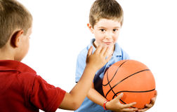 Free Kids Playing Basketball Royalty Free Stock Images - 9753609