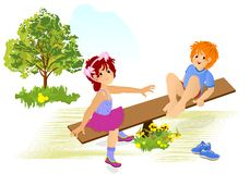 Kids playing, cdr vector stock image