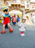 Kids playing cosplay. In Tokyo disney sea Japan royalty free stock images