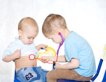 Kids playing doctor