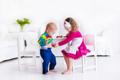 Kids playing doctor Stock Photography
