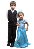 Kids playing dress up Stock Photography