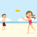 Kids Playing Flying Disk Royalty Free Stock Photo