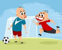 Kids playing football Royalty Free Stock Images