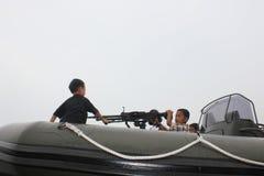 Kids Playing Guns Royalty Free Stock Photo