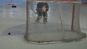 Kids Playing Hockey stock footage