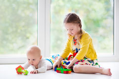Kids playing at home Royalty Free Stock Photo