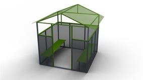 Kids house 3d illustration render. Kids playing house isolated on white background 3d illustration render Stock Illustration