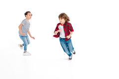 Free Kids Playing In Play Catch-up Stock Image - 93015841