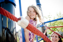Free Kids Playing In Playground With Mom Stock Images - 29170654