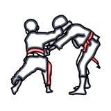 Kids playing judo. Royalty Free Stock Images