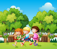 Kids playing outdoor during daytime Stock Photo