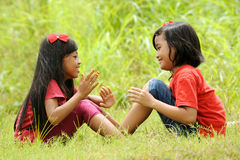 Kids Playing Outdoors Royalty Free Stock Photography