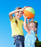 Kids playing in park. Children playing in park. Outdoor Stock Photos