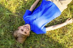 Kids playing in a park. A portrait of happy kids playing in a park Stock Photography