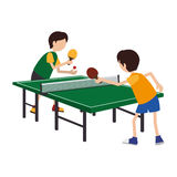 Kids playing ping pong Royalty Free Stock Photography