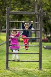 Kids playing at playground Royalty Free Stock Images
