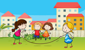 Kids playing rope Royalty Free Stock Images