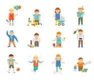 Kids Playing Set Royalty Free Stock Image