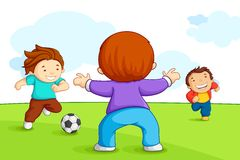Kids Playing Soccer Royalty Free Stock Photos