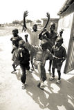 Kids playing in South Sudan stock image