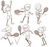 Kids playing tennis Royalty Free Stock Photography