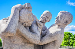 Kids playing with their mother statue in Vigeland Park, Oslo Stock Image