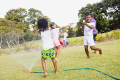 Kids playing together during a sunny day Royalty Free Stock Photography