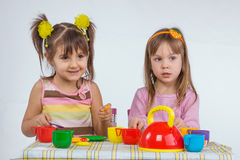 Kids playing royalty free stock photo