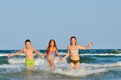 Kids  playing  in water Royalty Free Stock Image
