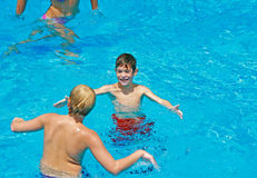 Kids in the Pool Royalty Free Stock Images