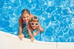Kids in the pool Stock Photo