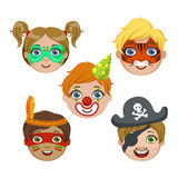 Kids Portraits With Animal Make Up Royalty Free Stock Photo